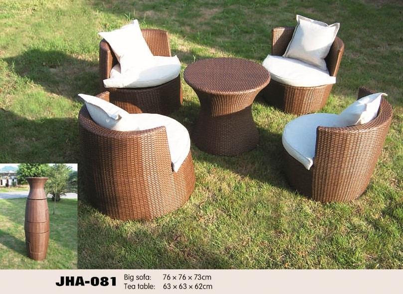wicker rattan indoor and outdoor sofa set with modern design and contemporary look
