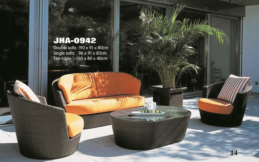 Saffron Wicker sofa Set