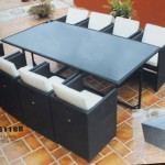 outdoor rattan dining set JHA-S118B