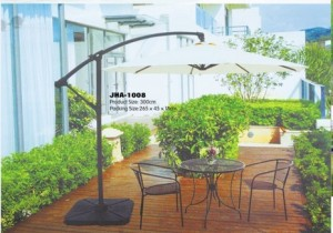 Ivory Side Pole Outdoor Parasol