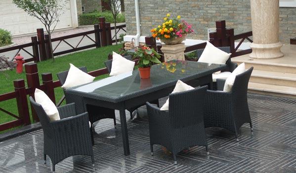 Indoor Outdoor Wicker Dining Set
