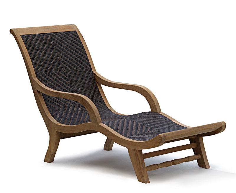 Riviera Teak Wood Sun Lounger