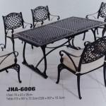 Delima Cast Aluminum Dining Set,  JHA-6006