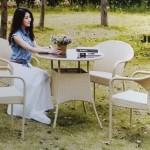 Pamela Wicker Dining Table  JHA-6050