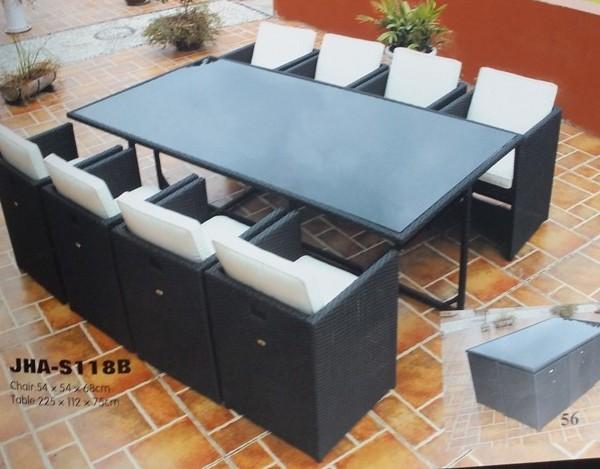 outdoor rattan dining set