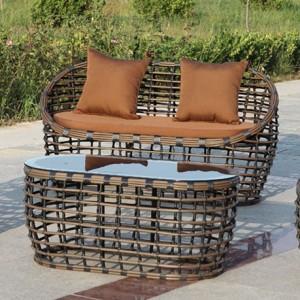 Contemporary designer  sofa set, the bamboo design sofa set for all weathers