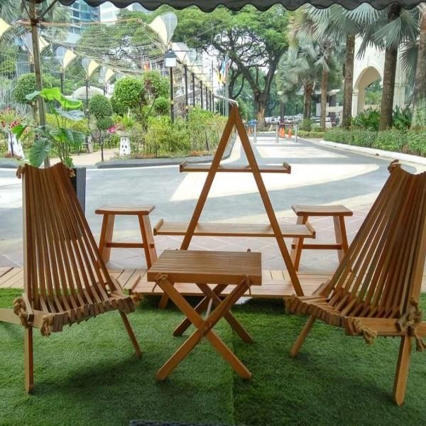 Designer Chair, Balau Wood,